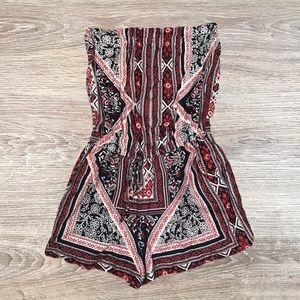 Angie strapless tribal boho romper size small